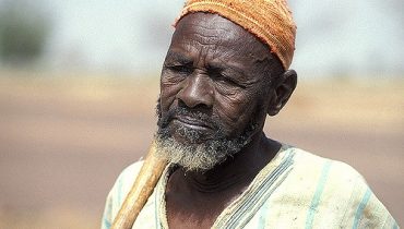 Portrait of elderly man. Burkina Faso. Photo: Curt Carnemark