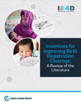 Incentives for Improving Birth Registration Coverage: A Review of the Literature cover