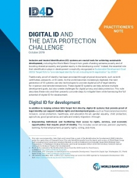 Digital ID and the Data Protection Challenge: Practitioner's Note